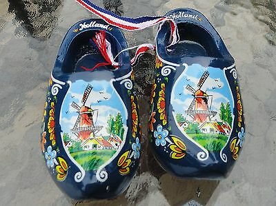 Lot of 3 Pairs Holland Wooden Clog Dutch Hand Crafted Shoes Wall Decor