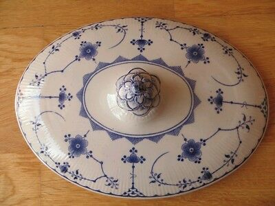 furnivals blue denmark RARE lid for oval tureen and white masons