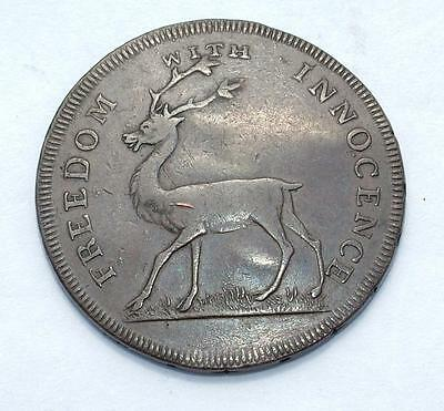 "1796 Halfpenny Token Bucks Society ""freedom With Innocence"" - Lot 33"