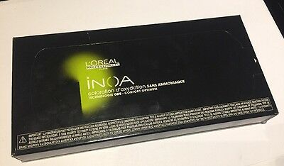 Neuf Stock Coloration L'oreal Inoa 6*8 Grammes 6,13 - Blond Fonce Cendre Dore