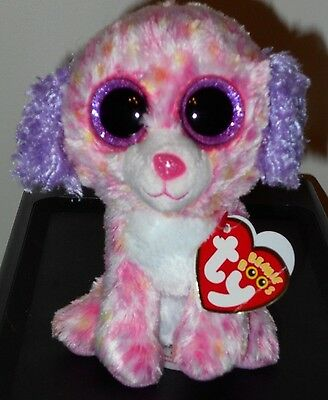 """CT* Ty Beanie Boos - LONDON the 6"""" Dog ~ Claire's Exclusive ~ NEW w/ CREASED TAG"""