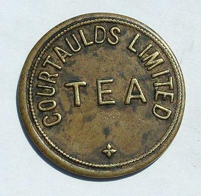 "19th CENTURY ""COURTAULDS LIMITED TEA"" TOKEN - LOT 78"