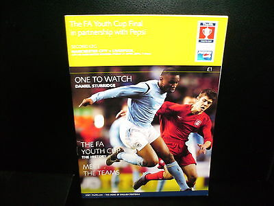 2005/2006  MANCHESTER CITY YOUTHS   v.  LIVERPOOL   FA YOUTH CUP  FINAL