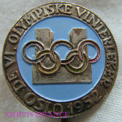 Bg7690 - Insigne Badge Jeux Olympiques De Oslo 1952 - Olympic Games