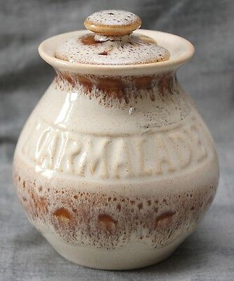 Fosters Pottery Honeycomb Marmalade Pot with Lid