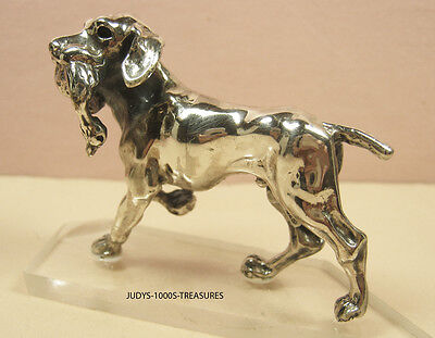 "925 SILVER POINTER DOG BIRD MINIATURE 2.25 x 1.75 x 0.75""  42.70gr. MADE ITALY"