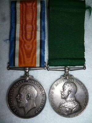 Colonial Auxiliary Forces Long Service Medal GV Pair to 38th Dufferin Rifles
