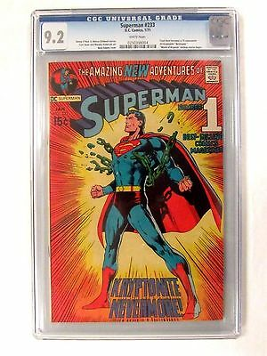 DC Comics Superman #233 (1971) Key Neal Adams Cover CGC 9.2 White Pages BP495