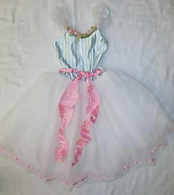Youth Girls Handmade Ballet Dance Recital Play Dress Up Costume Size 8 10 Lace