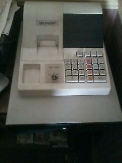 Sharp XE-A120 Cash Till with Manual and 2 Keys