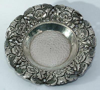 Very Attractive Chased Silver Dish 800 Silver Marked Eastern Origin