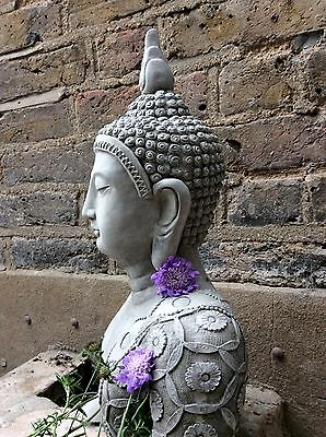 Large Beautiful Thai Buddhas Bust Statue 11kg, For The Home Or Garden. From Sius
