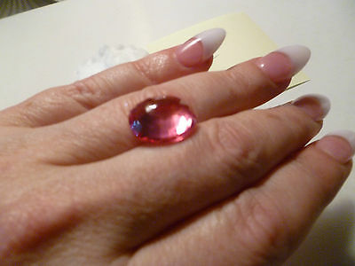 13.9 ct padparadscha sapphire pink orange pretty collect