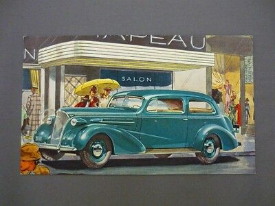 "Vintage 1937 CHEVROLET TOWN SEDAN ""The Complete Car Completely New"" Postcard"