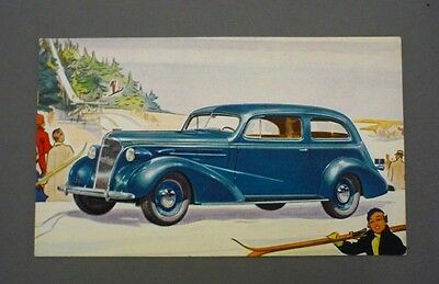 "Vintage 1937 CHEVROLET COACH ""The Complete Car Completely New"" Postcard"