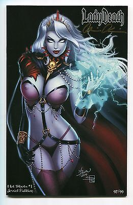 Lady Death Hot Shots #1 Jewel NAUGHTY Edition Variant Dawn McTeigue Cover Signed