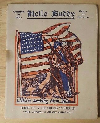 HELLO BUDDY WWI Disabled Veteran US Army Soldier Comic Jokes Cartoons  Booklet