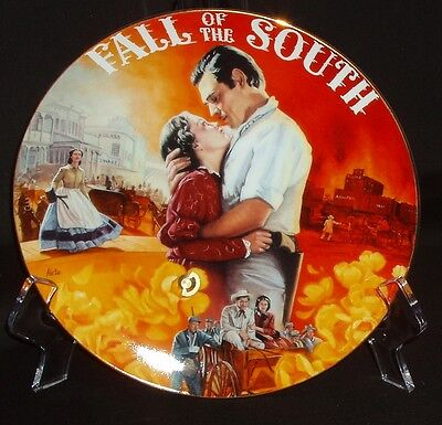 """Bradford Gone With The Wind: Musical Treasures """"Fall of the South"""" Plate"""