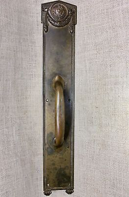 """Door Handle Pull LUZERNE COUNTY COURTHOUSE old 24"""" bronze Seal of Pennsylvania"""