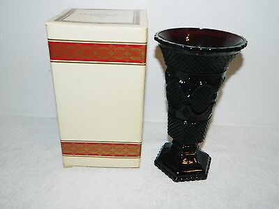 Avon Ruby Red Flower Vase From the 1876 Cape Cod Collection In Original Box