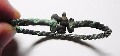 Zurqieh - Ancient Holy Land ,  Iron Age Silver Bracelet. 1200 - 1000 B.c