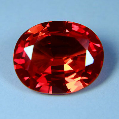 5.30ct.AWESOME VIVID PADPARADSCHA SAPPHIRE OVAL GEMSTONE