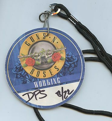 Guns N' Roses Not in This Lifetime Unpeeled Official Backstage Working Crew PASS