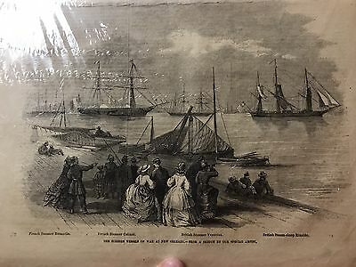 1863 Frank Leslie's Illustrated Civil War newspaper Steamer Designs
