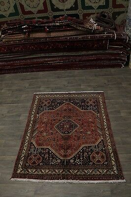 Beautiful S Antique Abadeh Shiraz Persian Wool Area Rug Oriental Carpet Sale 5X7