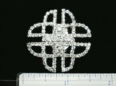 Celtic Knot Crystal Shoe Clips* One Pair * Carded and Boxed