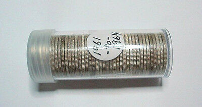 1 Roll of 40 Coins 90% Silver Washington Quraters 1961 to 1964D New Plastic Tube