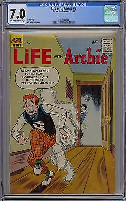 Life With Archie #5 CGC 7.0 FN/VF OwWp 1960 RARE Riverdale Jughead Americana!!