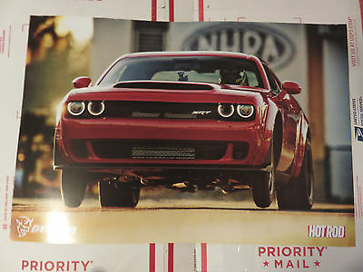 Official Dodge Challenger Demon Promo 2 sided Poster