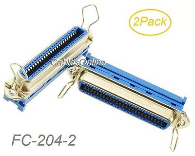 2-Pack Centronics 50-Pin IDC Type Female CN50 Crimp Connector for Ribbon Cable