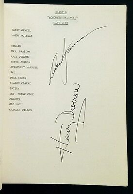 """Harry O"" TV Script for 13th Episode Signed by David Janssen & Henry Darrow"
