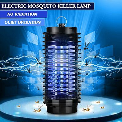 LED Electric Mosquito Fly Bug Insect Zapper Killer + Trap Lamp Indoor Outdoor
