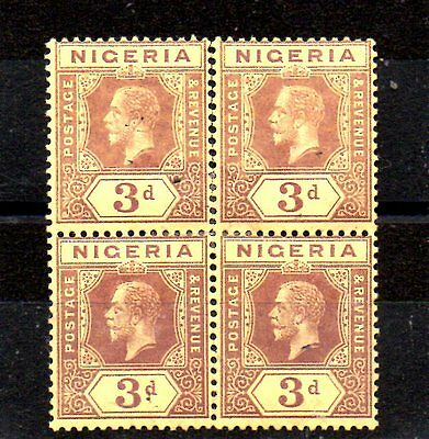 A Block Of 4 Stamps From Nigeria.1914.