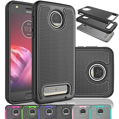 Cover Armor Rugged Rubber Hard Case For Motorola Moto Z2 Force /Moto Z2 Play
