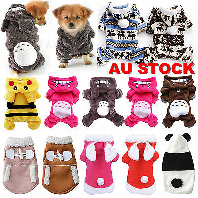 Small Pet Dog Cat Puppy Warm Sweater Hoodie Vest Coat/clothes Costume Apparel AU