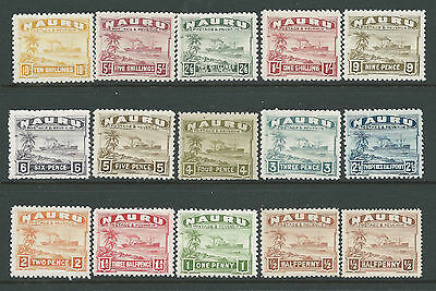1937-1948 Nauru Ships Definitives Set Of 15 Mint Mlh/mm