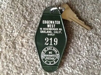 Edgewater West  Adult Motel Oakland California Hotel Key and Fob Room 219