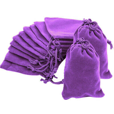 10 20 50 Purple Luxury Velvet Jewellery Drawstring Wedding Pouches Gift Bags