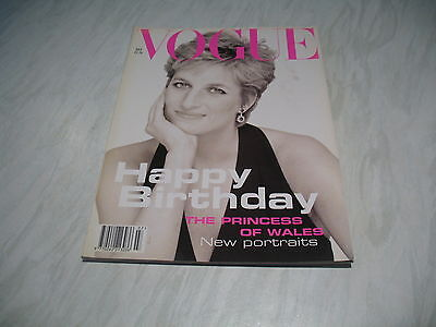 Vogue magazine # 1994 July UK issue Diana Princess of Wales cover DeMarchelier