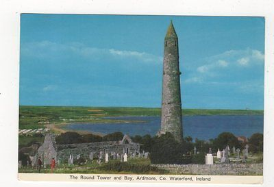 The Round Tower & Bay Ardmore Co Waterford Ireland 1975 Postcard 872a