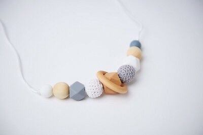Silicone Teething beads breastfeeding nursing necklace sensory tool