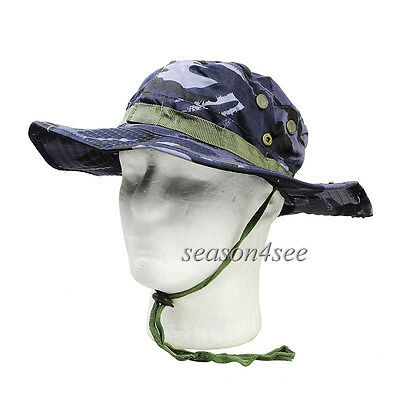 Tactical Airsoft Boonie Hat Summer Sunhat For Outdoor Sports British Ocean Camo
