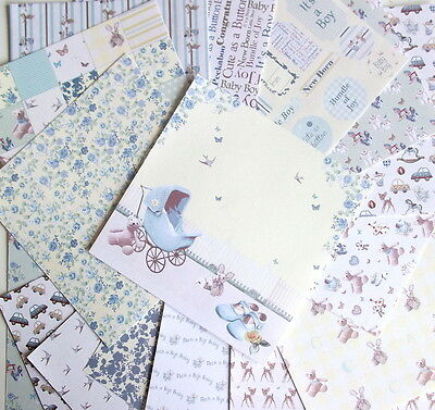 "16 SHEETS 6x6"" SCRAPBOOK PAPER - IT'S A BOY by First Edition PAPERS baby"