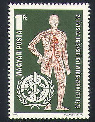 Hungary 1973 WHO/Medical/Blood/Health/Welfare/UN 1v (n34455)
