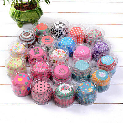 UK 100pcs Paper Cake Cup Liners Baking Cup Muffin Kitchen Cupcake Cases Party