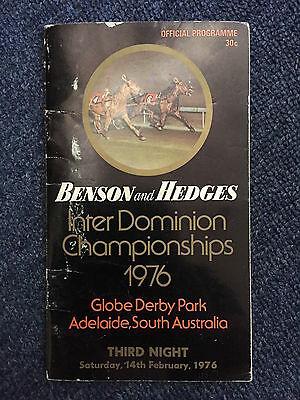 1976 Adelaide Inter Dominion Trotters Grand Final Race Book Bay Johnny